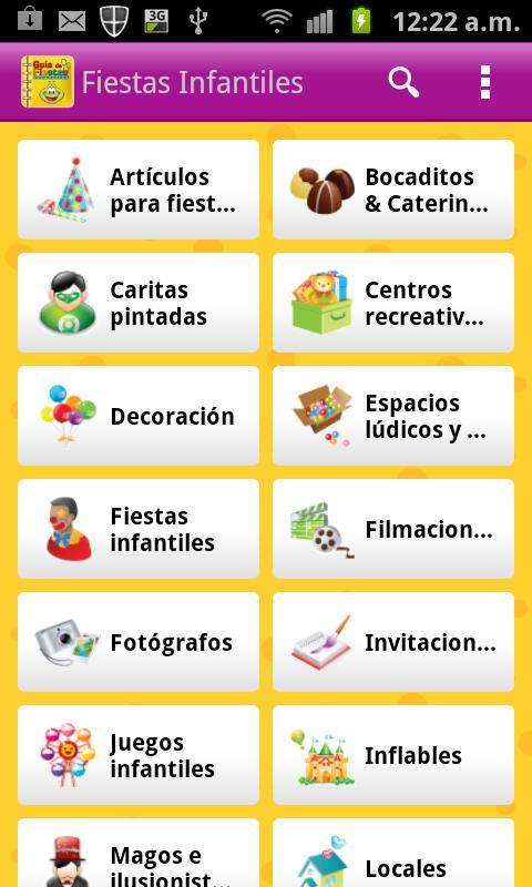Guia de Fiestas Infantiles- screenshot