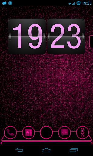 Holo Pink Next Launcher Theme