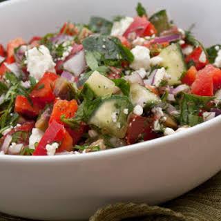 Chopped Greek Salad with Fresh Herbs.