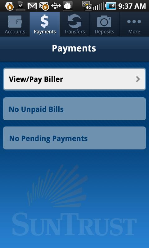 SunTrust Mobile App - screenshot