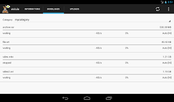 Screenshot of eMule Remote
