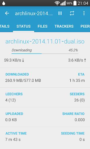 Flud - Torrent Downloader 1.4.9 screenshots 3