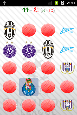 Champions League Memory Game - screenshot