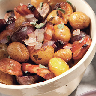 Roasted Potatoes with Bacon, Onions, and Sage.