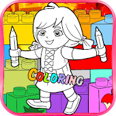 Dora The Lego Coloring