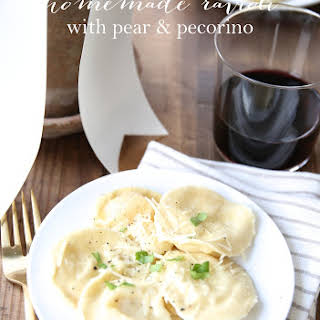 Homemade Ravioli with Pear & Pecorino.