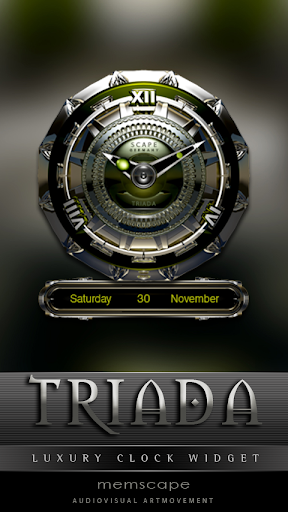 TRIADA Luxury Clock Widget