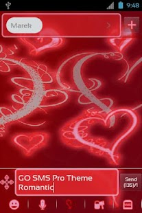 GO SMS Pro Theme Romantic- screenshot thumbnail