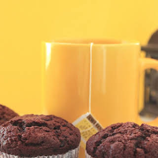 Double Chocolate Chunk Muffins.