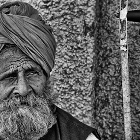 The Support & The Pride & Dignity by Shishir Pal Singh - People Portraits of Men ( indianstreets, monochrome, support, black and white, indian, indianmen, men )