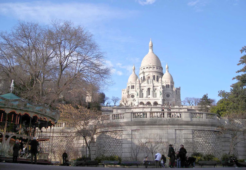 The Sacre Coeur in Paris.