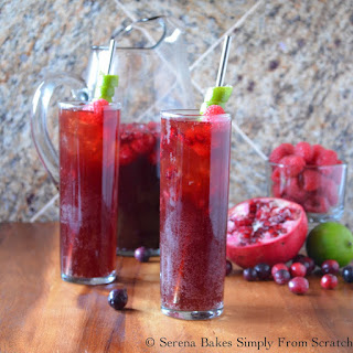 Sparkling Pomegranate Berry Punch.