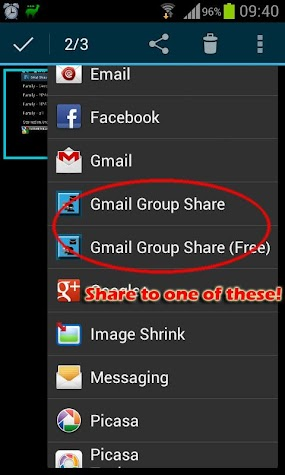 Group Share for Gmail Screenshot