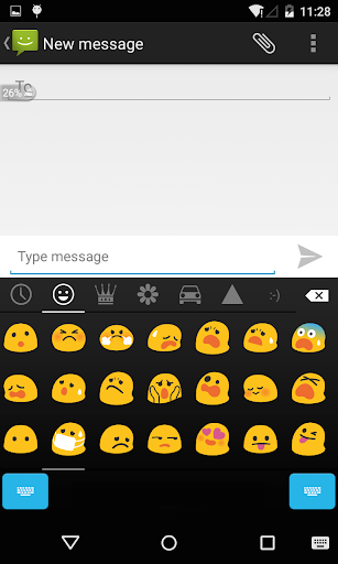 Emoji Keyboard - Black Round screenshots 2