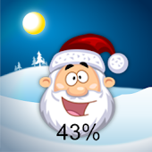 Christmas Santa Battery Widget
