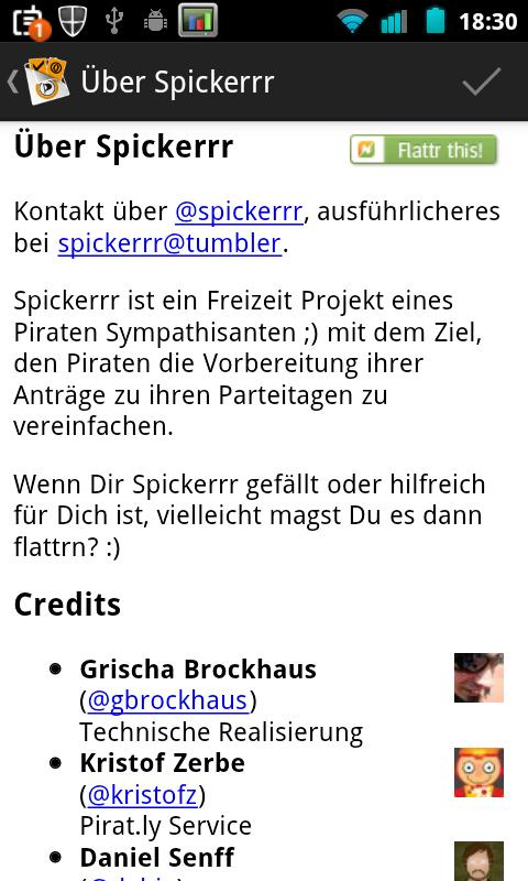 Spickerrr (Piraten Anträge)- screenshot