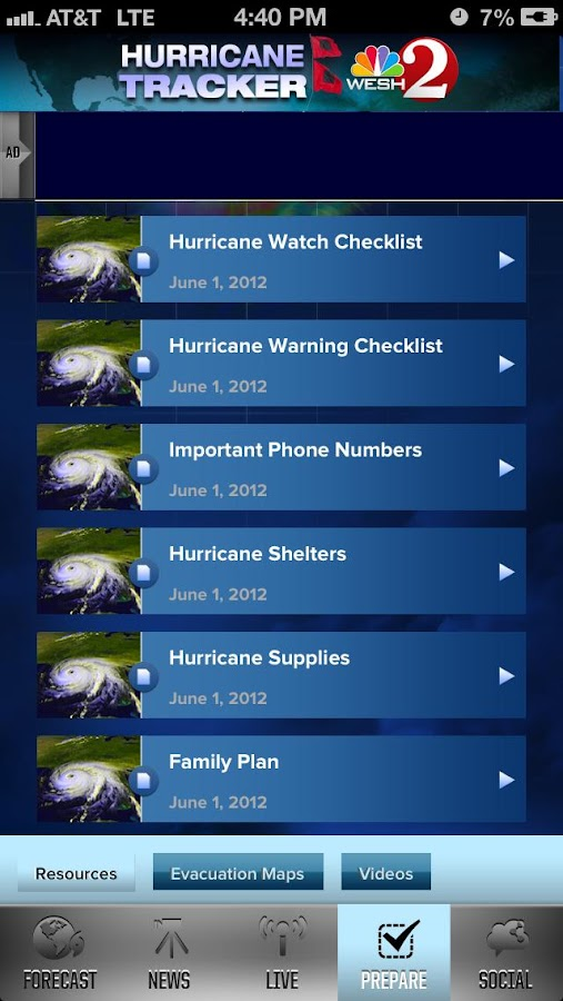 Hurricane Tracker WESH 2 - screenshot