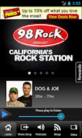 Screenshot of 98 Rock California