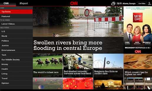 CNN App for Android Tablet - screenshot thumbnail