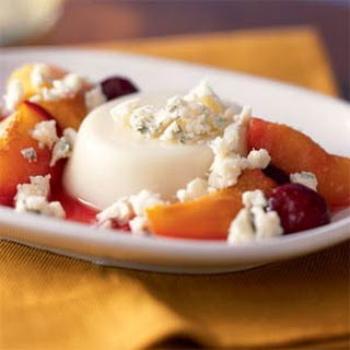 Panna Cotta with Vermont Blue Cheese and Roasted Stone Fruit.