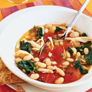 Chicken, White Bean, and Spinach Stew.