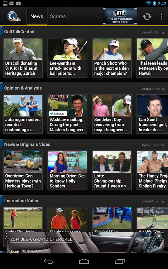 Golf Channel Mobile - screenshot
