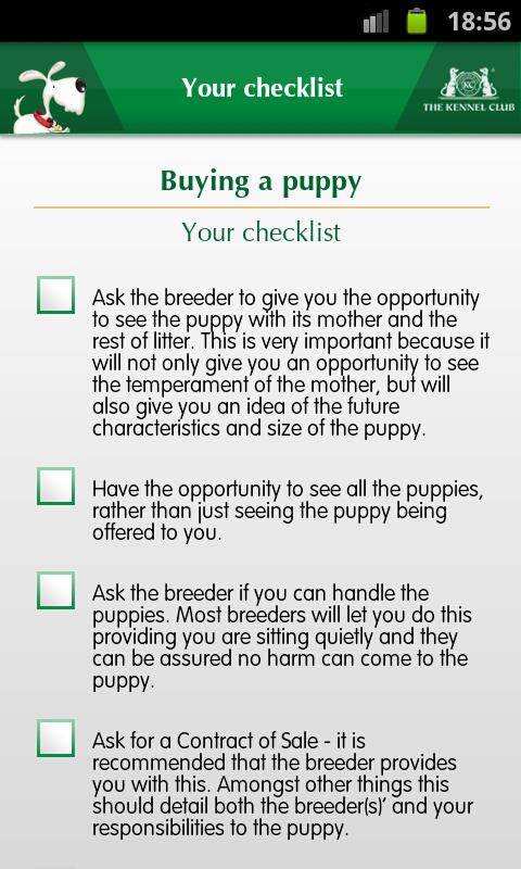Kennel Club Puppy Buying Guide - Android Apps On Google Play