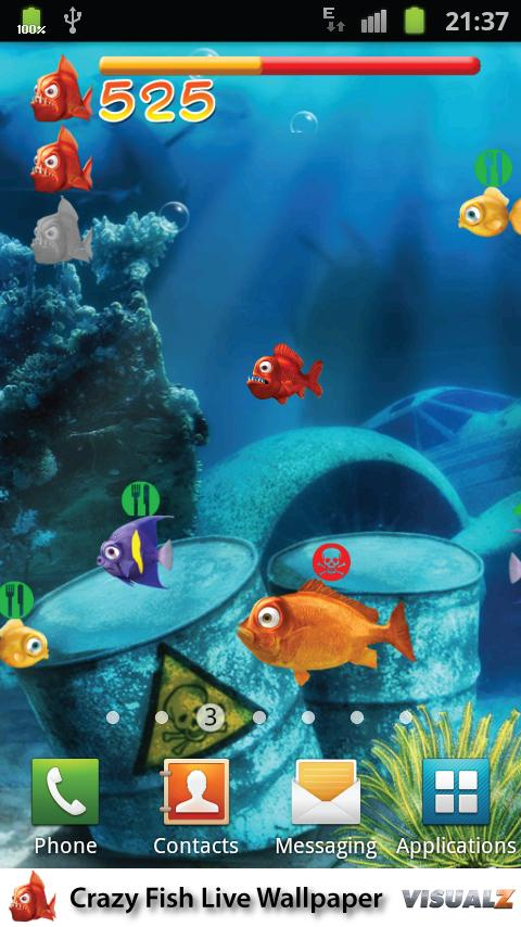 Crazy Fish Live Wallpaper Free- screenshot