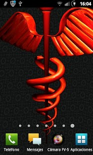 3D Caduceus Medical Wallpaper - screenshot thumbnail