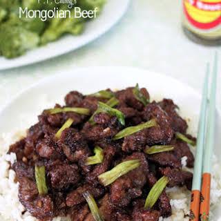 P.F. Chang's Mongolian Beef.