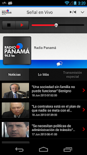 Radio Panamá para Android - screenshot thumbnail