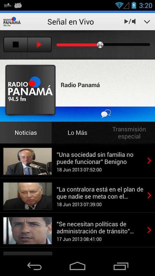 Radio Panamá para Android - screenshot