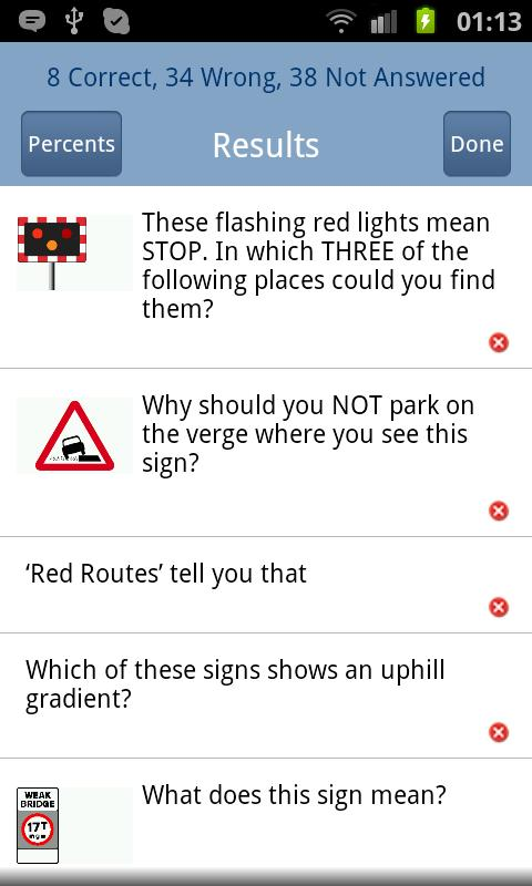 PCV Theory Test UK Lite - screenshot