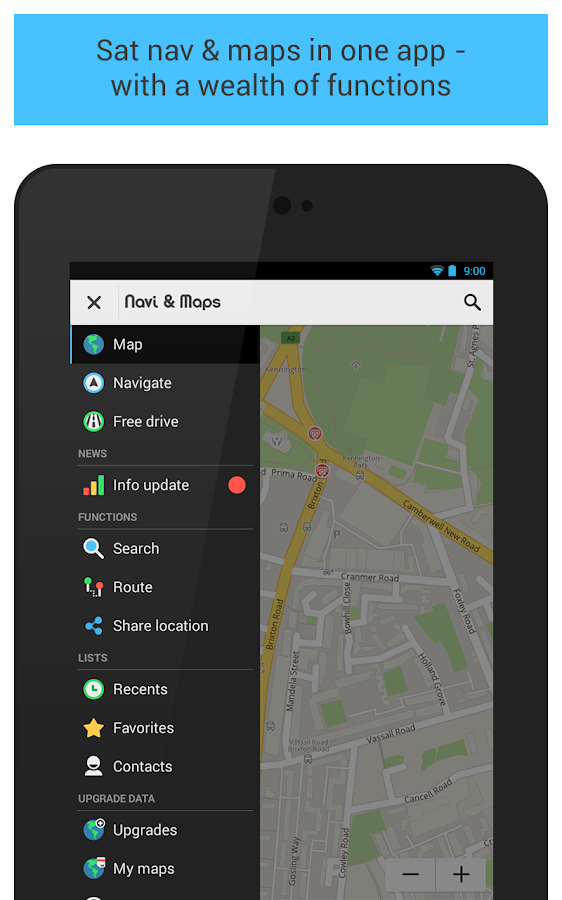 GPS Navigation & Maps - light - screenshot