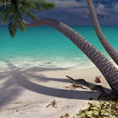 Sandy Beach 3D. Live wallpaper