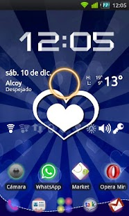 GO Launcher Blue Heart Theme - screenshot thumbnail
