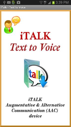 iTalk - Text to Voice