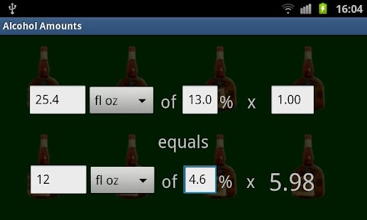 Alcohol Amount Converter - screenshot thumbnail