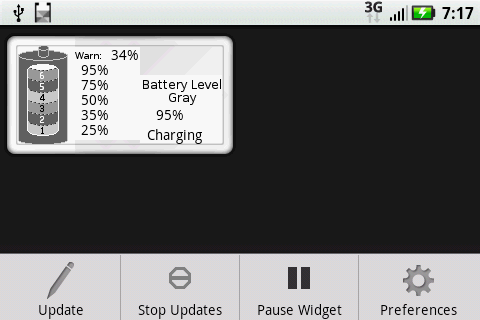 Battery Level Gray