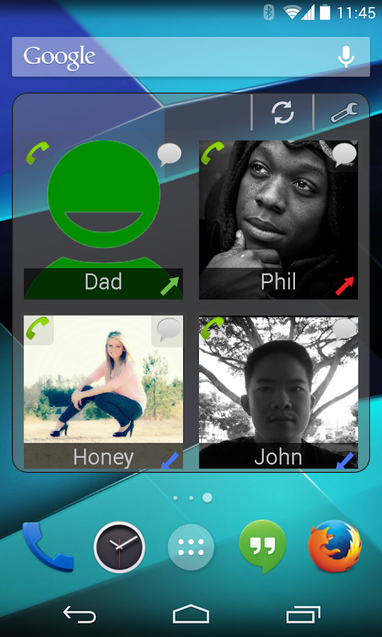 CallWho Smart contacts widget- screenshot