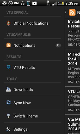 VTU Notifications 2015