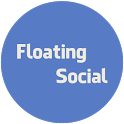 Floating Social icon