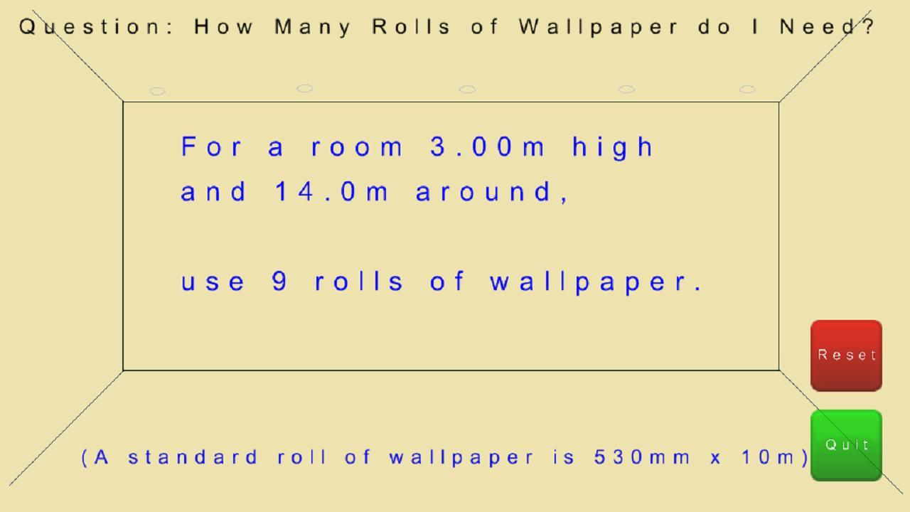 Wallpaper: How Many Rolls?- screenshot