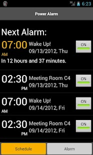 Android alarm clock sample code