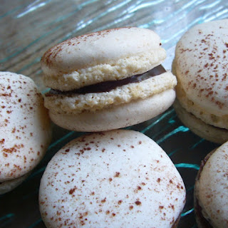Chocolate Orange Ganache Macaroon Cookie Sandwiches.