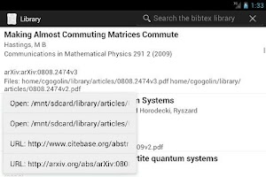 Screenshot of Library