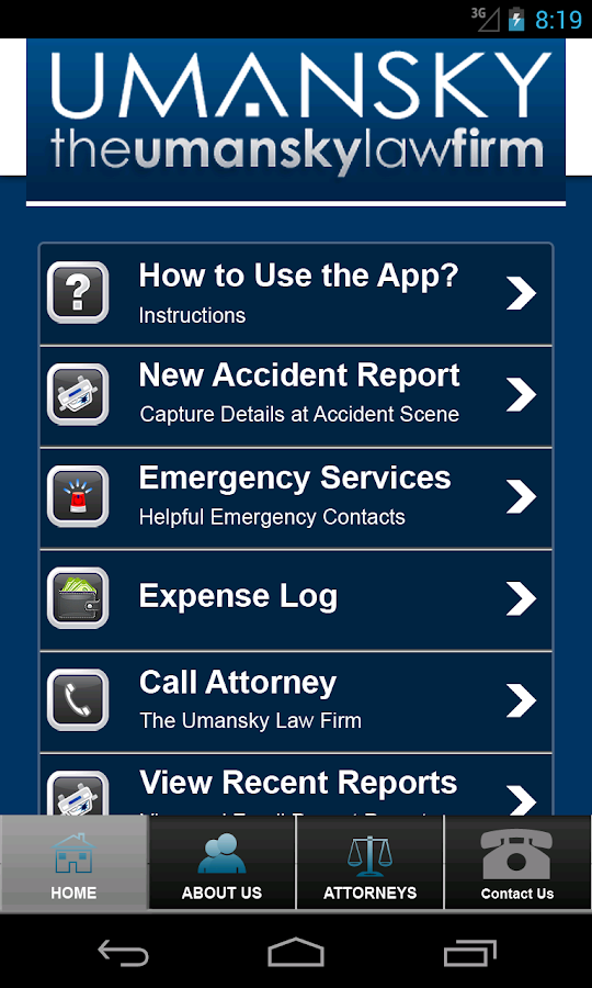Umansky Accident and DUI  App- screenshot