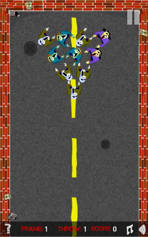 Zombowling HD - screenshot