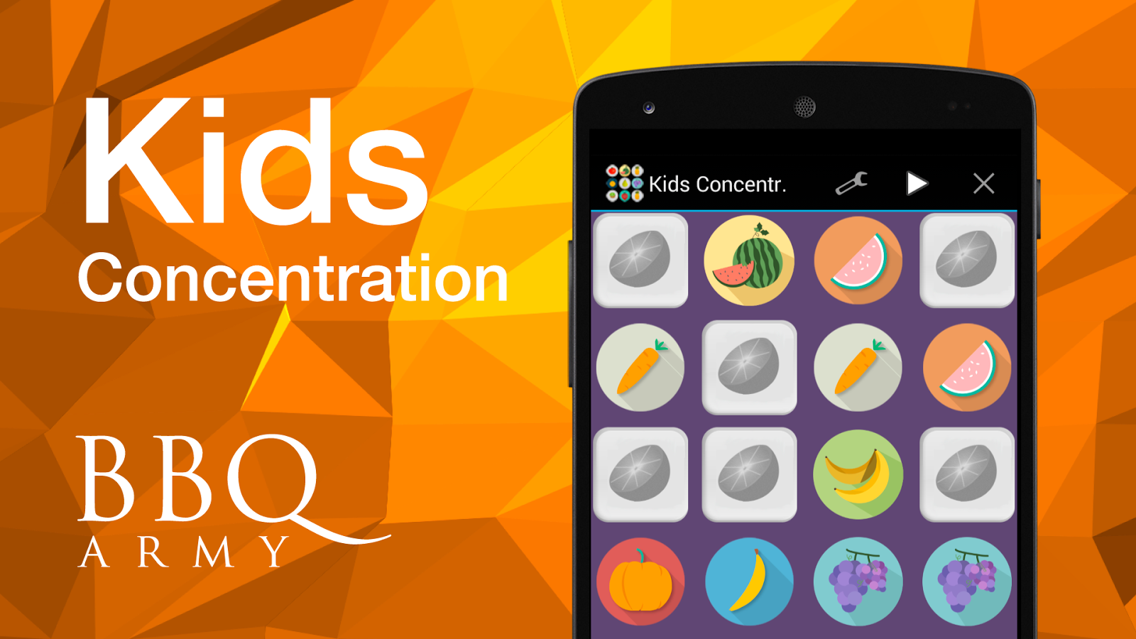 Kids Concentration Game (free) - screenshot