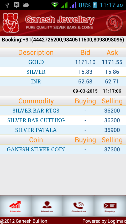 Ganesh Bullion- screenshot